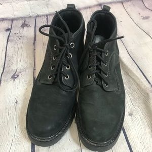 Timberland Black Leather Boots Size 8